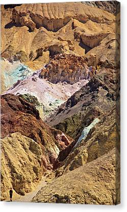 Artist's Palette At Death Valley Canvas Print by Levin Rodriguez