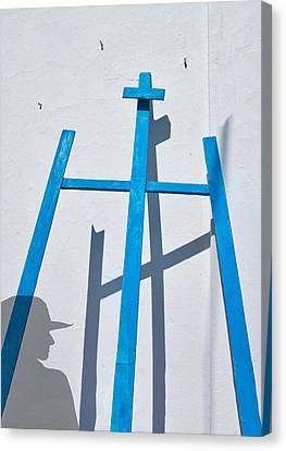 Artists Shadow Canvas Print by Salvator Barki