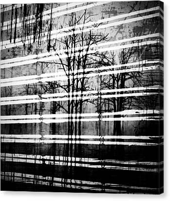 As The Swamp Sleeps Canvas Print by Jerry Cordeiro