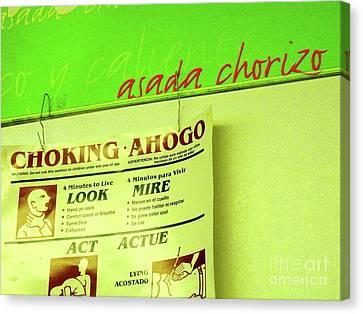 Asada Choke - Izo Canvas Print by Joe Jake Pratt