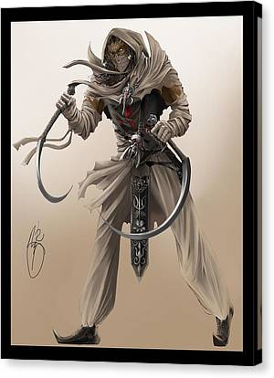 Assassin Canvas Print by Antoine Ridley
