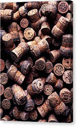 Assorted Champagne Corks Canvas Print by Garry Gay