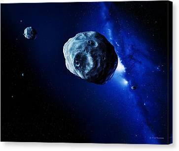 Asteroids Canvas Print by Detlev Van Ravenswaay