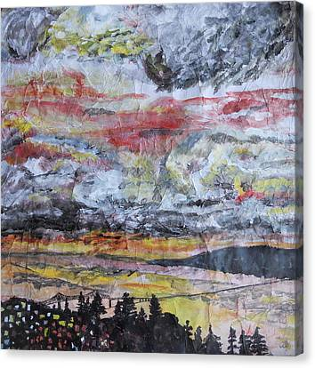 Astoria Megler Bridge Sunset Canvas Print by Rachel Biddlecome