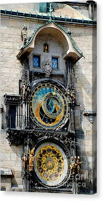 Astronomical Clock Canvas Print by Pravine Chester