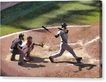 At Bat Canvas Print by Lynne Jenkins