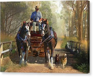 At Durdidwarrah Crossing Canvas Print by Trudi Simmonds