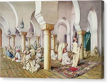 At Prayer In The Mosque Canvas Print by Filipo Bartolini or Frederico