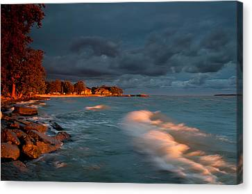 At Sun's First Break Canvas Print by At Lands End Photography