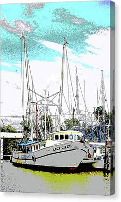 At The Dock Canvas Print by Barry Jones