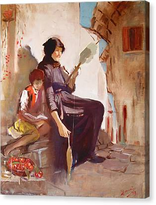 At The Doorstep Canvas Print by Ylli Haruni