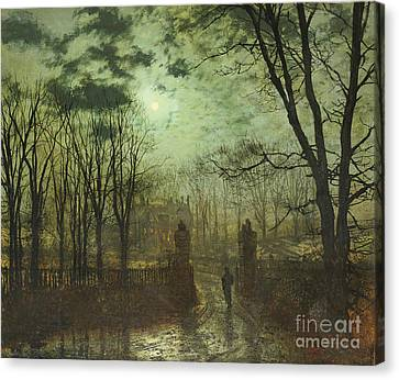 At The Park Gate Canvas Print by John Atkinson Grimshaw