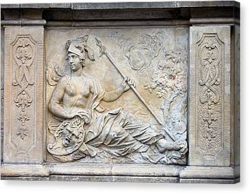 Athena Relief In Gdansk Canvas Print by Artur Bogacki