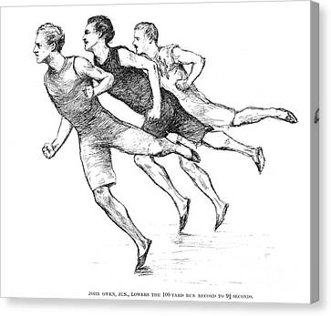Athletics: Track, 1890 Canvas Print by Granger