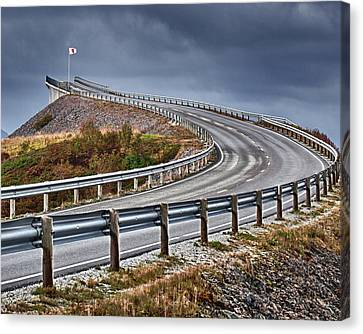 Atlantic Road Canvas Print by A A