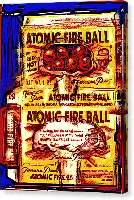 Atomic Fire Ball Canvas Print by Russell Pierce