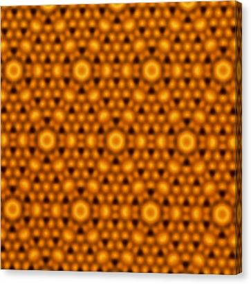 Atomic Surface Of A Silicon Crystal Canvas Print by Northwestern University