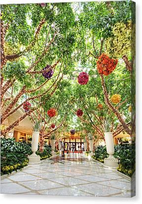 Atrium At The Wynn 2 Canvas Print by Jessica Velasco