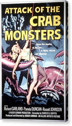 Attack Of The Crab Monsters, Poster Canvas Print by Everett