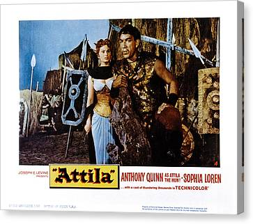 Attila, Aka Attila, Il Flagello Di Dio Canvas Print by Everett