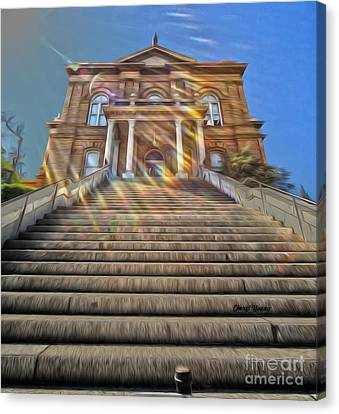 Auburn Courthouse Canvas Print by Cheryl Young