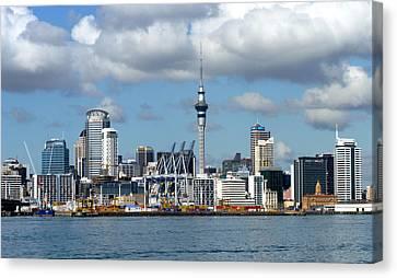 Auckland Skyline Canvas Print by Carla Parris