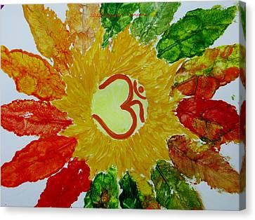 Aumkar Mandala Canvas Print by Sonali Gangane