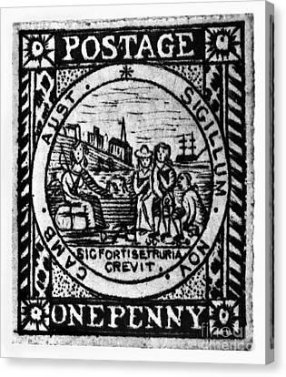 Australia: Postage Stamp Canvas Print by Granger