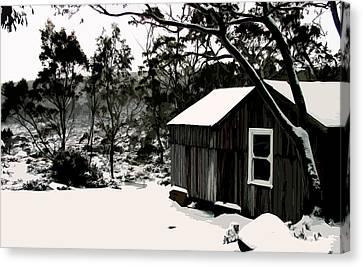Australian Alpine Snow Hut Canvas Print by Phill Petrovic