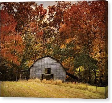 Autumn Barn Canvas Print by Jai Johnson