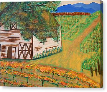 Autumn Barn Canvas Print by Kathleen Fitzpatrick