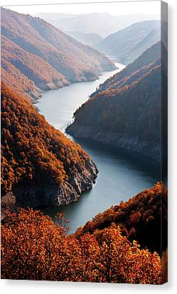 Autumn Creek Canvas Print by Mavroudakis Fotis Photography