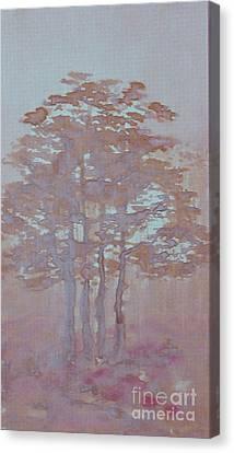 Autumn Fog Canvas Print by Anna Folkartanna Maciejewska-Dyba