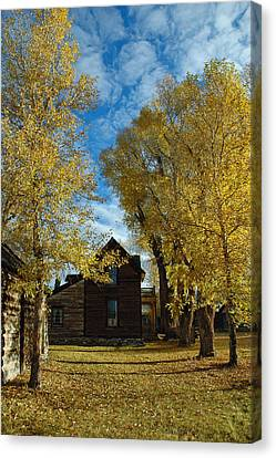Autumn In Montana's Nevada City Canvas Print by Bruce Gourley