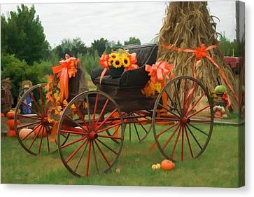 Autumn Joy Canvas Print by Kathy Clark