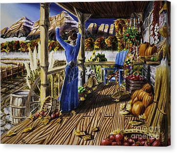 Autumn Morning Canvas Print by Robert Thornton