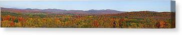 Autumn Panorama Brome Quebec Canada Canvas Print by David Chapman