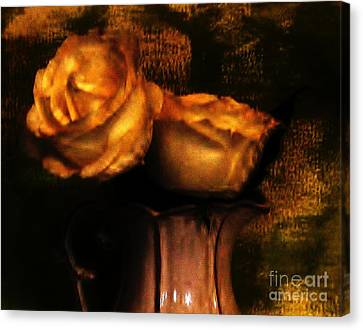 Autumn Roses Canvas Print by Marsha Heiken