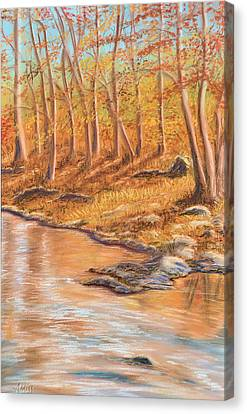 Autumn Stream Canvas Print by Jan Amiss