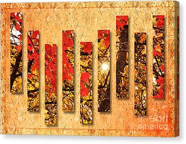 Autumn Sunrise Painterly Abstract Canvas Print by Andee Design