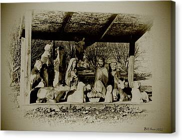 Away In The Manger Canvas Print by Bill Cannon