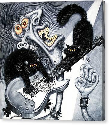 Axe And Violence Canvas Print by Baron Dixon