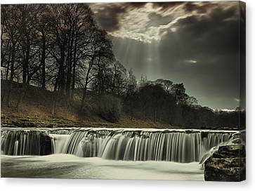 Aysgarth Falls Yorkshire England Canvas Print by John Short