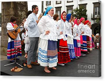 Azorean Folk Music Group Canvas Print by Gaspar Avila