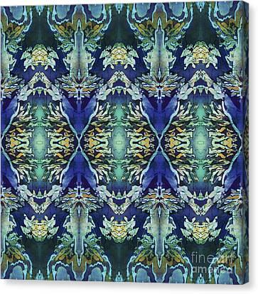 Azuraz Candle Tiled Canvas Print by Sue Duda