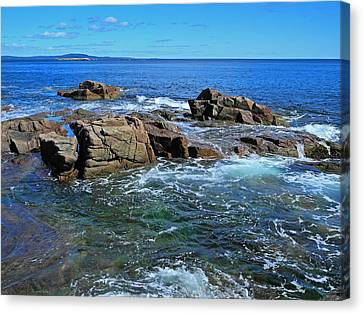 Azure And Emerald Canvas Print by Lynda Lehmann