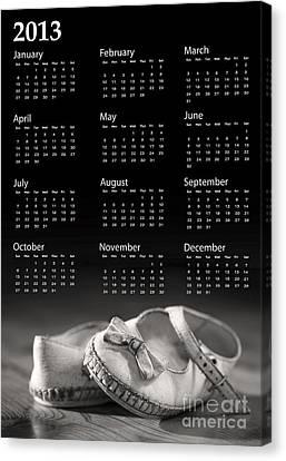 Baby Shoes Calendar 2013 Canvas Print by Jane Rix