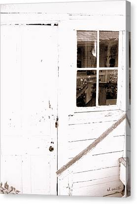Back Porch Reflections Canvas Print by Ed Smith