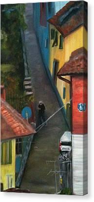 Back Street  Canvas Print by Betty Pimm
