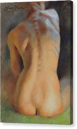 Back Study In Warm And Cool Canvas Print by Anna Rose Bain